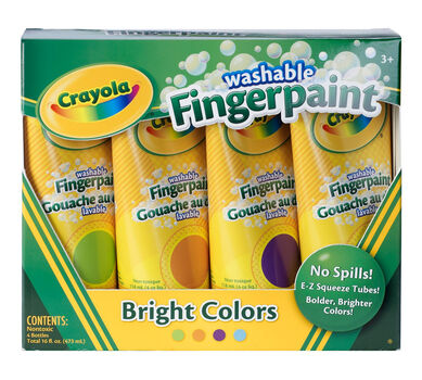 Washable Fingerpaint, Bright Colors 4 ct.