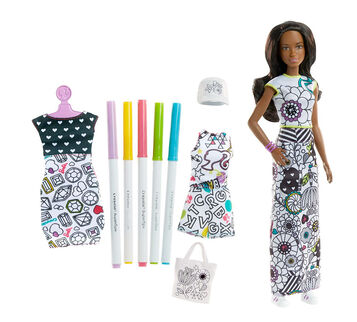 Barbie® Crayola® Color-In Fashion Doll & Fashions