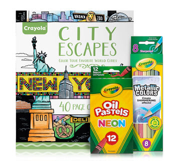 City Escapes Coloring Gift for Teens
