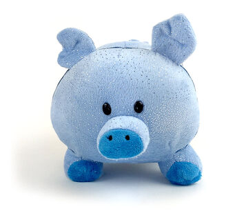 Plush Piggy Bank-Choose your color