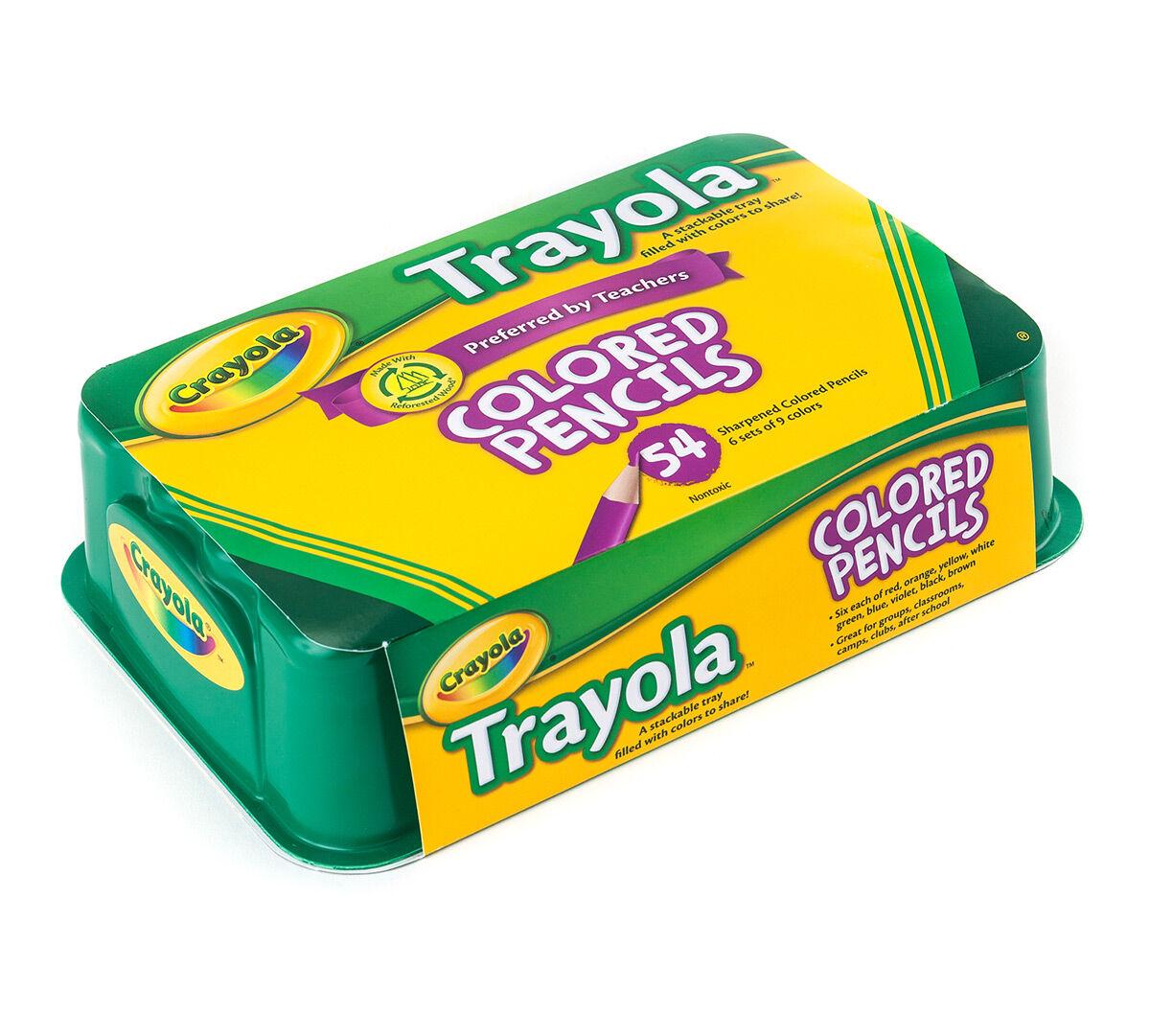 Crayola 54 Count Trayola Colored Pencils, 9 Colors - Crayola
