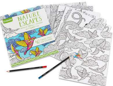 Crayola Nature Escapes Adult Coloring Art Activity 40