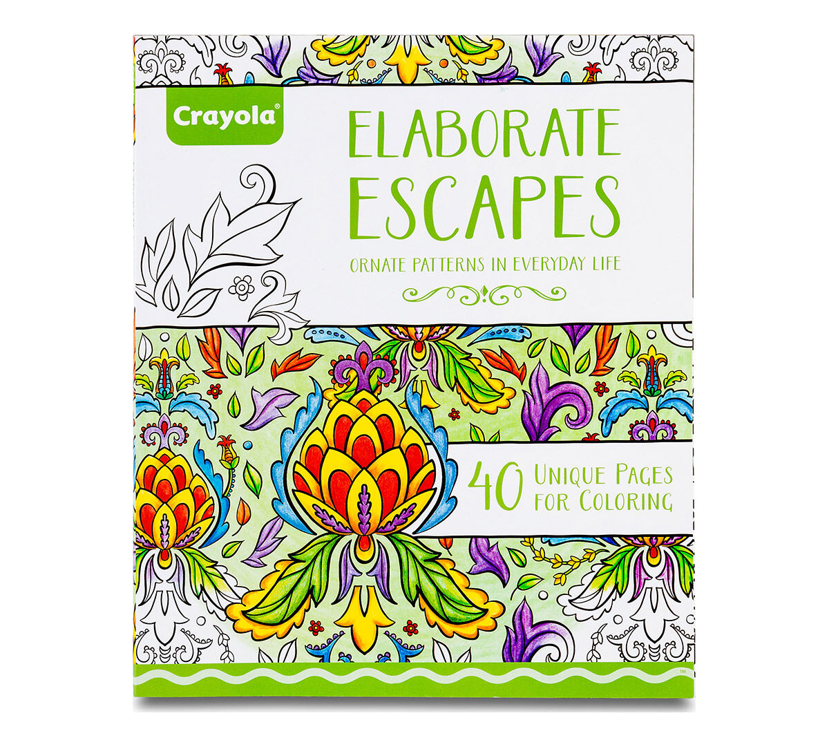 Crayola Elaborate Escapes, Adult Coloring Art Activity, 40 Pages ...