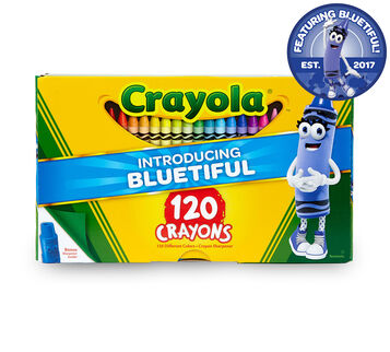 120 count Crayons Bluetiful