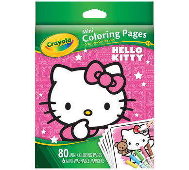 Mini Coloring Pages Hello Kitty