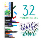 Signature Series Brush and Detail DualTip Markers front