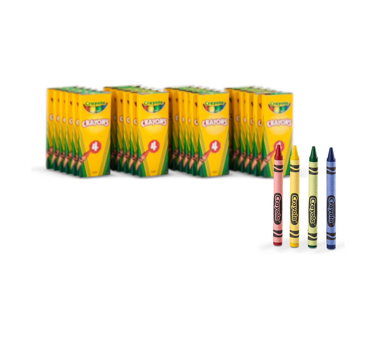 4 ct crayons 24 boxes per case pack crayola