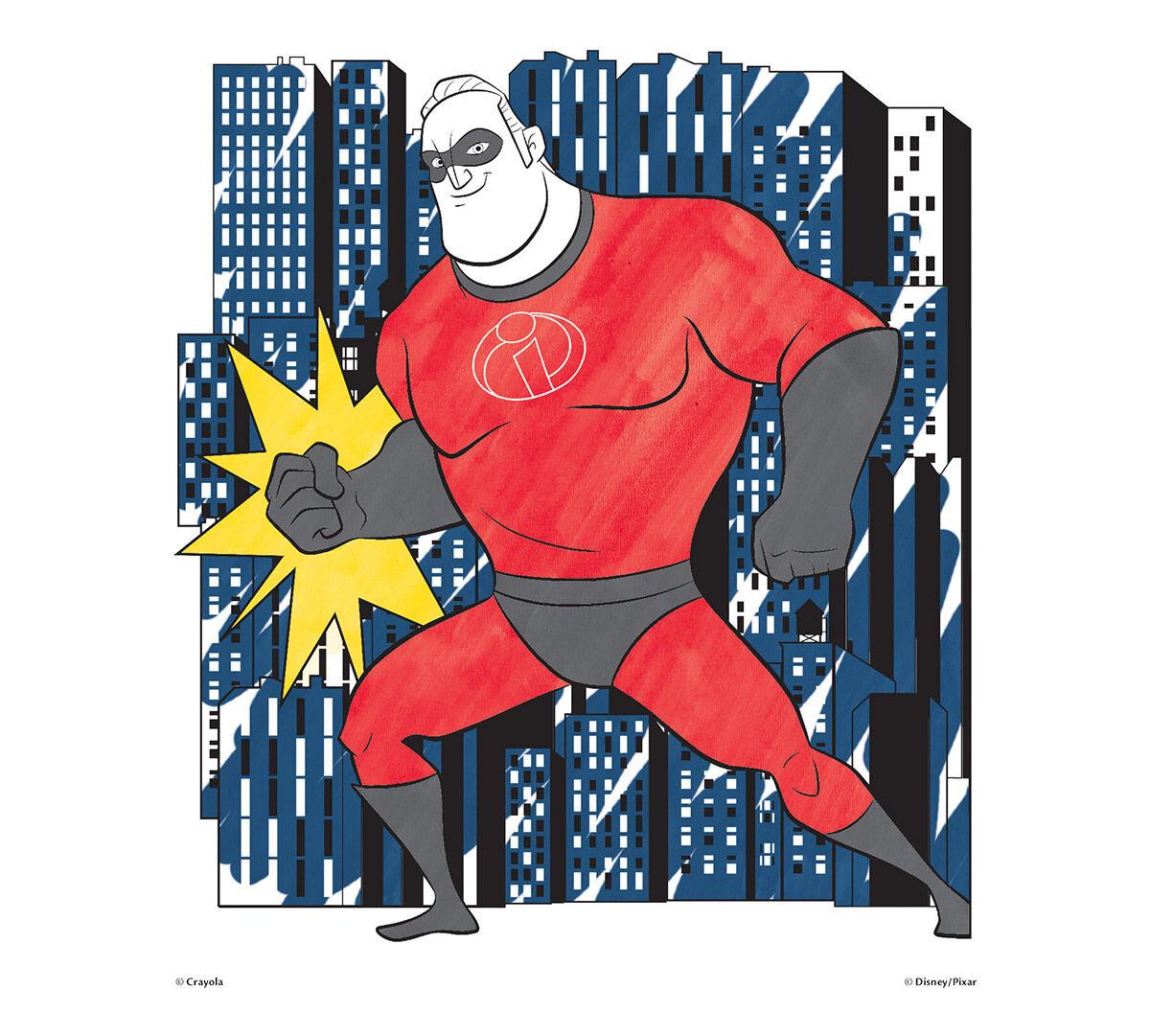 Crayola, Incredibles 2, Color Wonder Mess-Free Coloring Pad and Markers