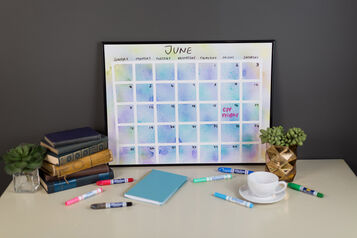 DIY Watercolor Wall Calendar