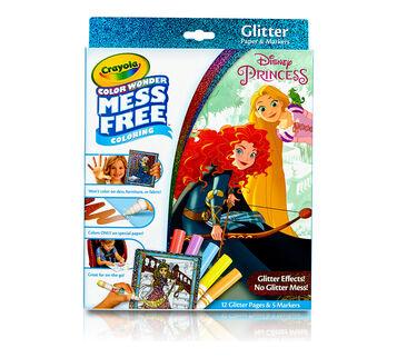 Color Wonder Glitter Paper and Markers Box Set Disney Princess