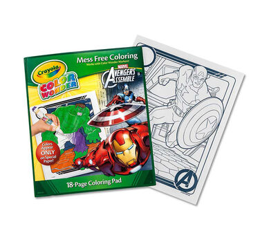 Color wonder avengers refill book crayola for Crayola color wonder 30 page refill paper