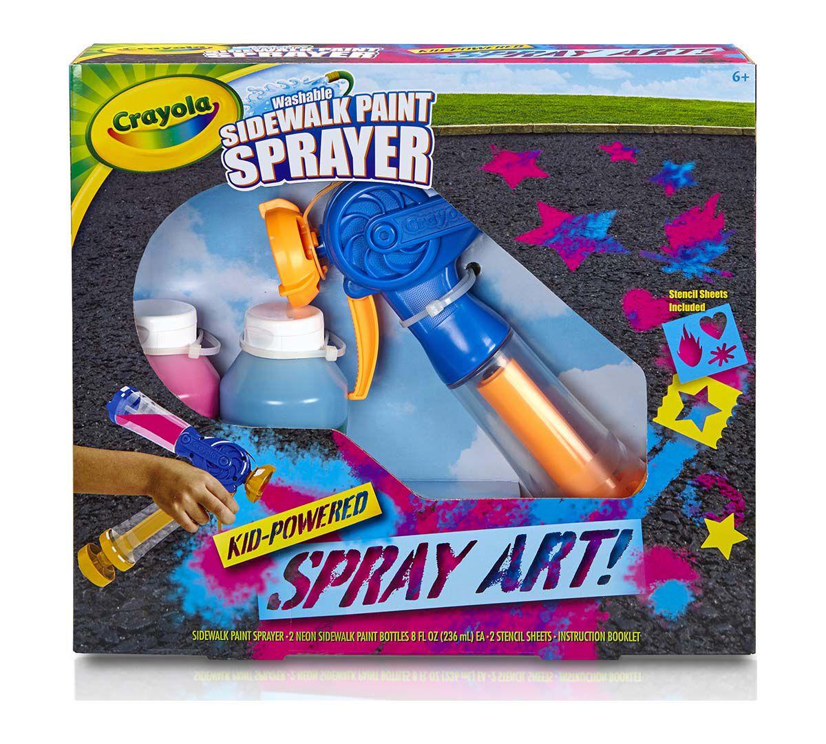 Crayola Washable Sidewalk Paint Sprayer Outdoor All Seasons