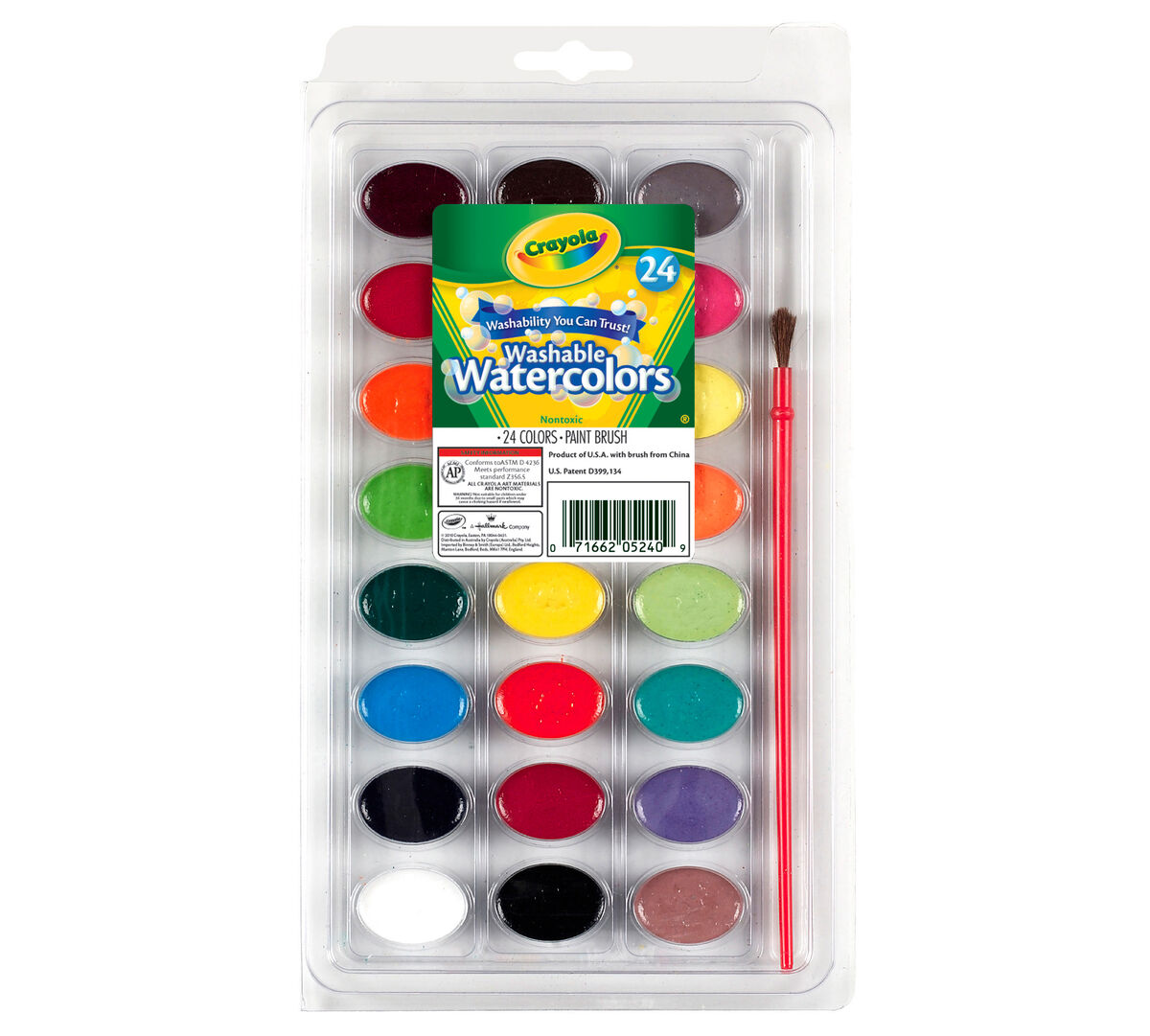 Washable Watercolors 24 ct.