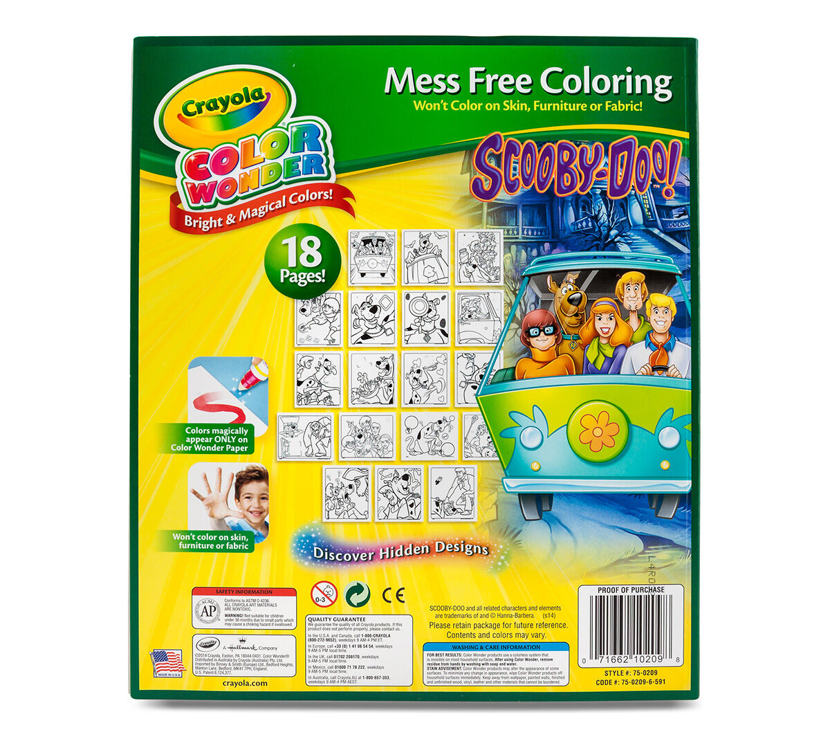 color wonder scooby doo 18 page coloring book - Color Wonder Coloring Books