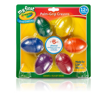 My First Crayola Palm Grip Egg Crayons