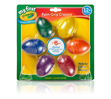 My First Crayola Palm Grip Egg Crayons