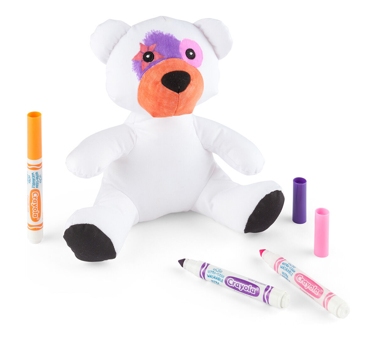 a crayola bear perfect for coloring with any crayola ultra clean