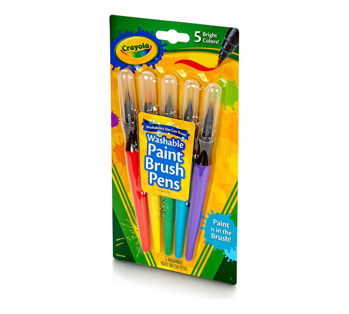 crayola paint brush pens how to use