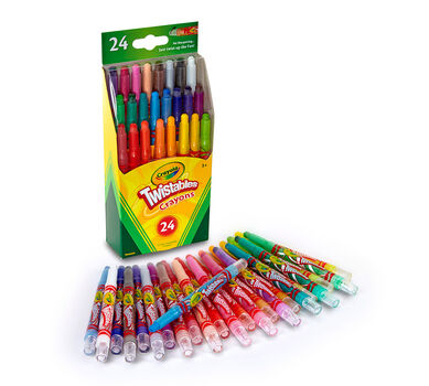 Crayola Mini Twistables Crayons, Neon Colors Included, 24ct, Gift ...
