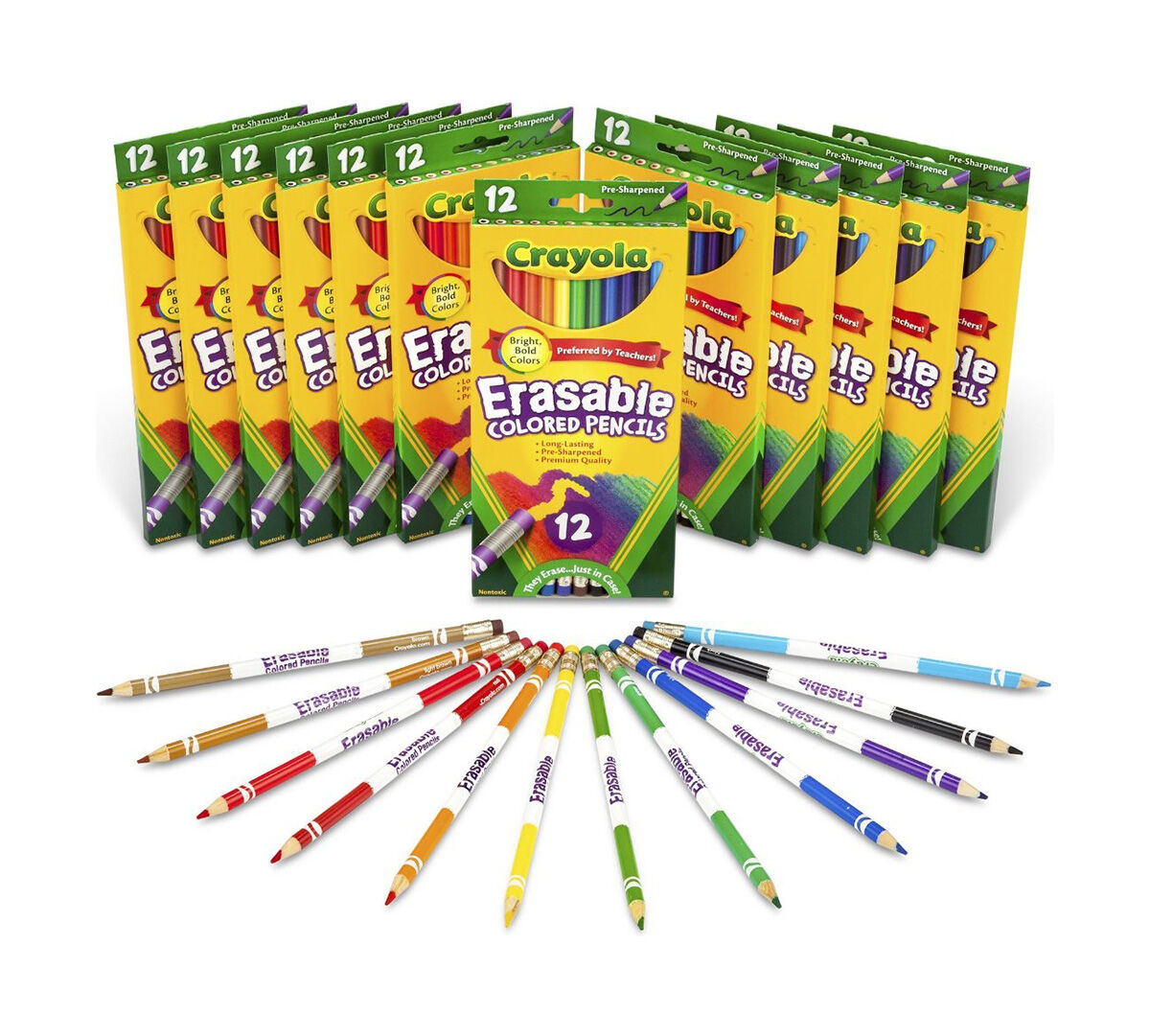 Back to School Eraseable Colored Pencils Pack