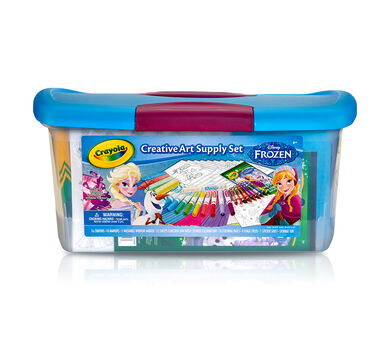 Frozen Creativity Tub, 87 Coloring Pages & Art Supplies | Crayola.com