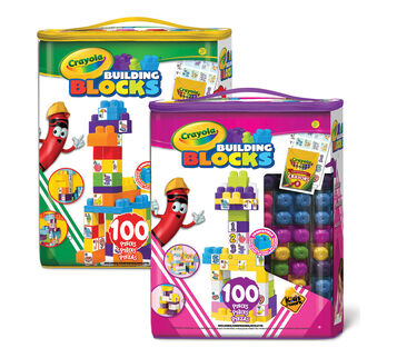 100 Piece Crayola Block Tote - Choose your Color