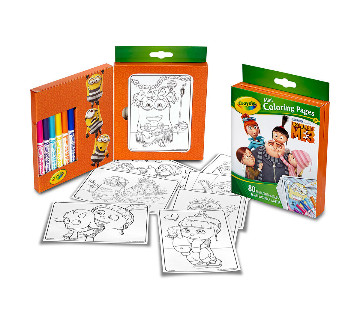 mini coloring pages - crayola mini coloring pages despicable me edition art