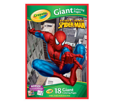 Giant Coloring Pages Marvel Spider Sense Spider Man Crayola