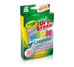 8-Count Washable Dry-Erase Crayons, Neon