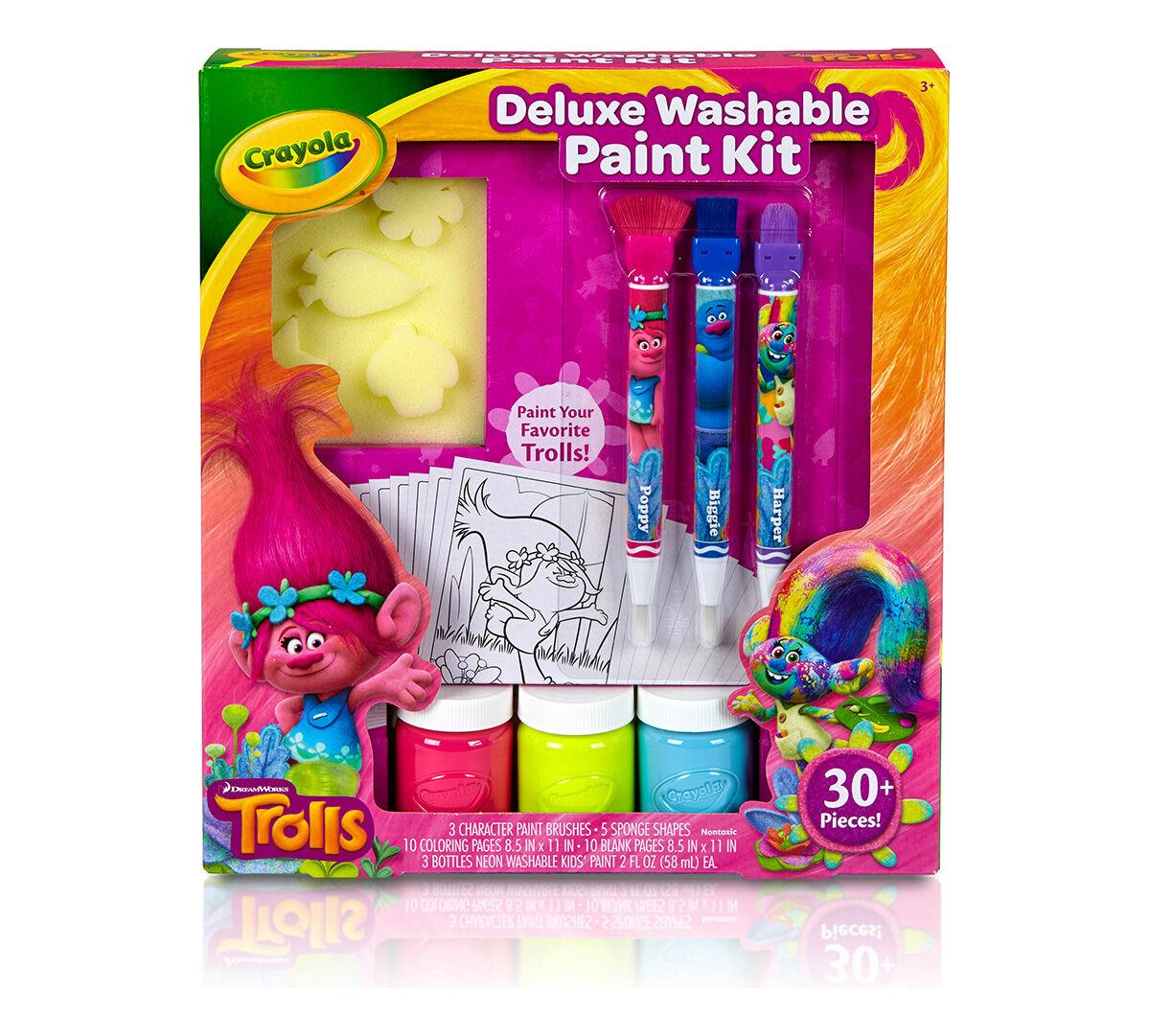 Trolls deluxe washable paint kit crayola trolls deluxe washable paint kit sciox Gallery
