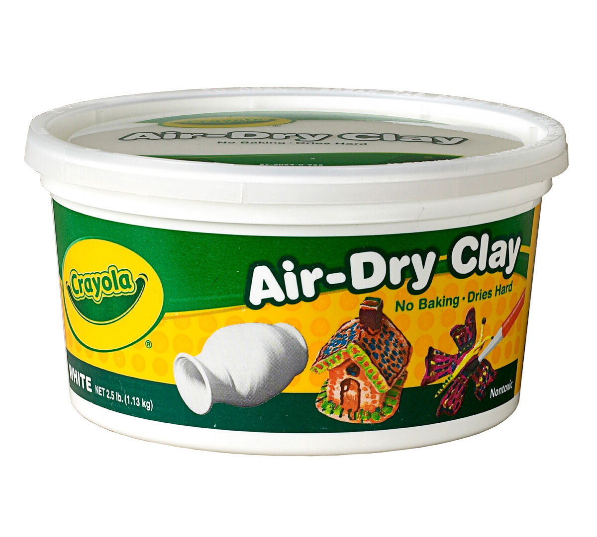 Crayola Air-Dry Clay is a fine, natural white earth clay that air dries to a hard solid. No kiln or oven necessary! Easy to use with traditional modeling techniques, it's also a snap to clean up. Air-Dry Clay is smoother, finer and less sticky than traditional clay.