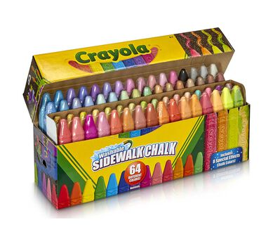 Crayola Ultimate Washable Chalk Collection 64 Count