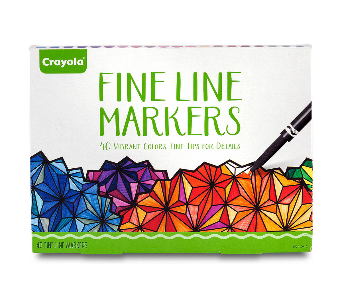 crayola 40 ct vibrant fine line markers with fine tips for detail