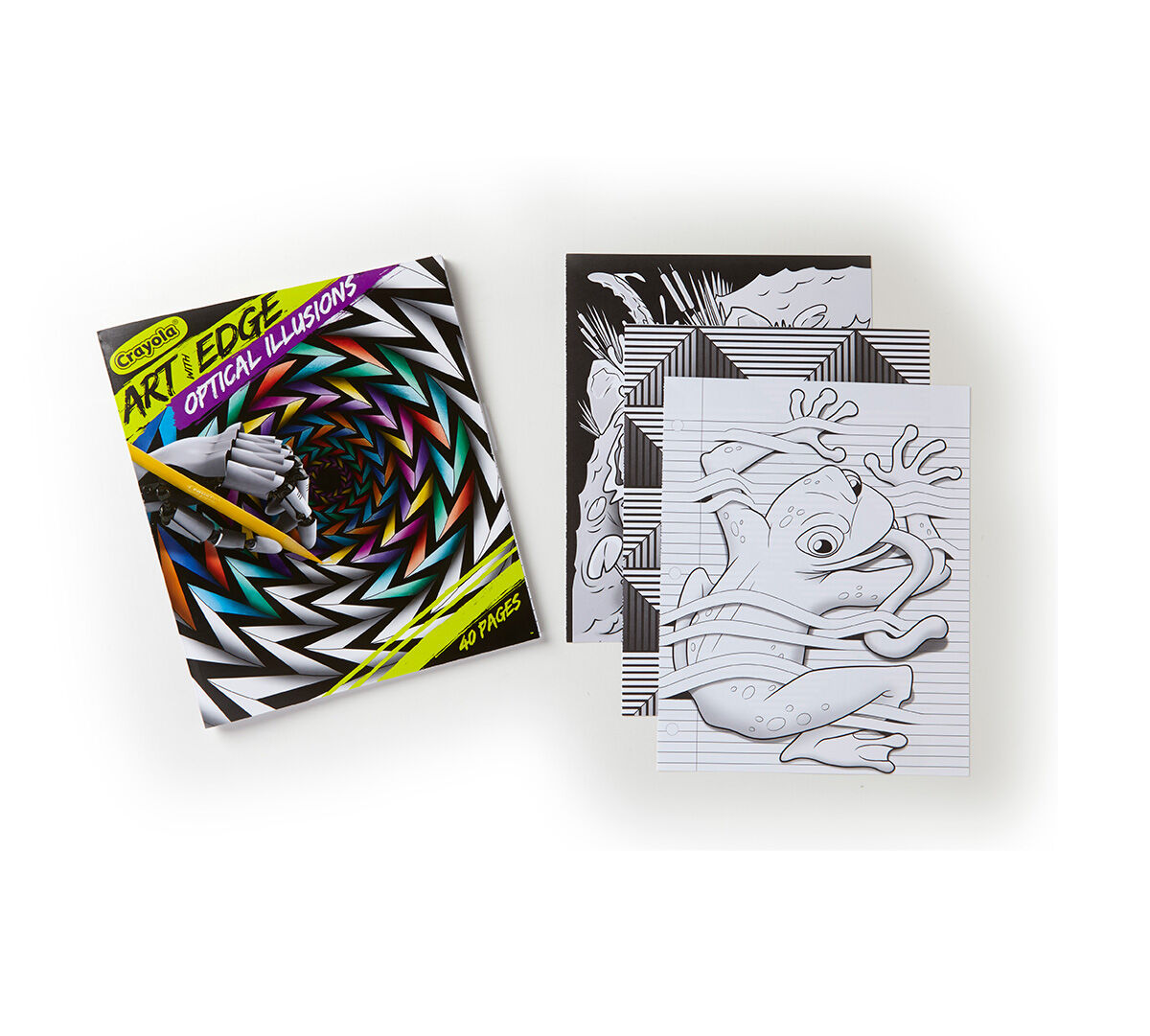 <p>The optical illusions in these Crayola Art with Edge Optical Illusions coloring pages create bold, intense images that pop off the page when brought to life with color. Use your imagination and artistic instincts to add color to these designs and enjoy the unexpected, eye-tricking results.</p>