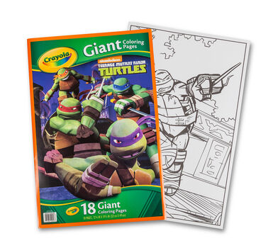 Giant Coloring Pages Teenage Mutant Ninja Turtles  Crayola