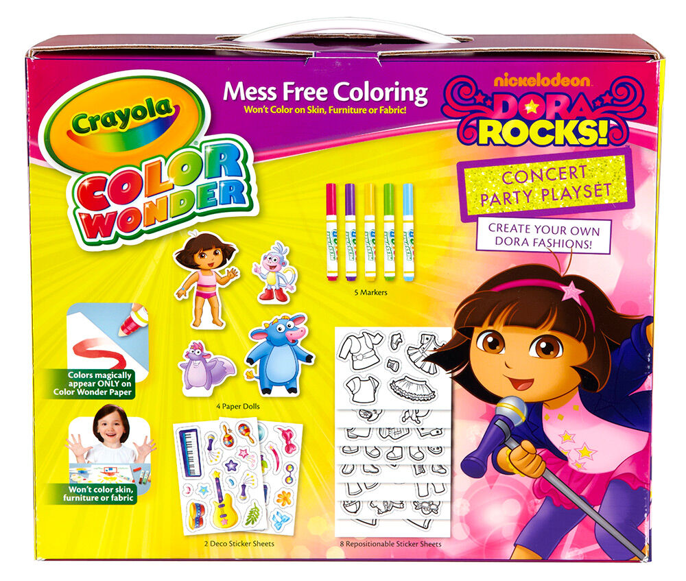 Color Wonder Dora Rocks Playset Backgrounds Coloring Pages Of Computer High Quality A