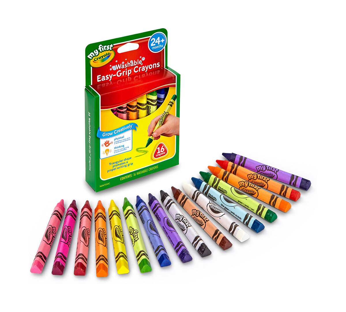 My First Crayola Washable Triangular Crayons 16ct Crayola