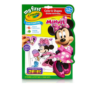 My First Crayola Color Shapes Sticker Activities Minnie Mouse