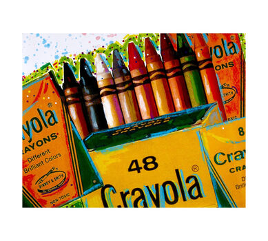 Crayola Collage Tilt Poster 22x28
