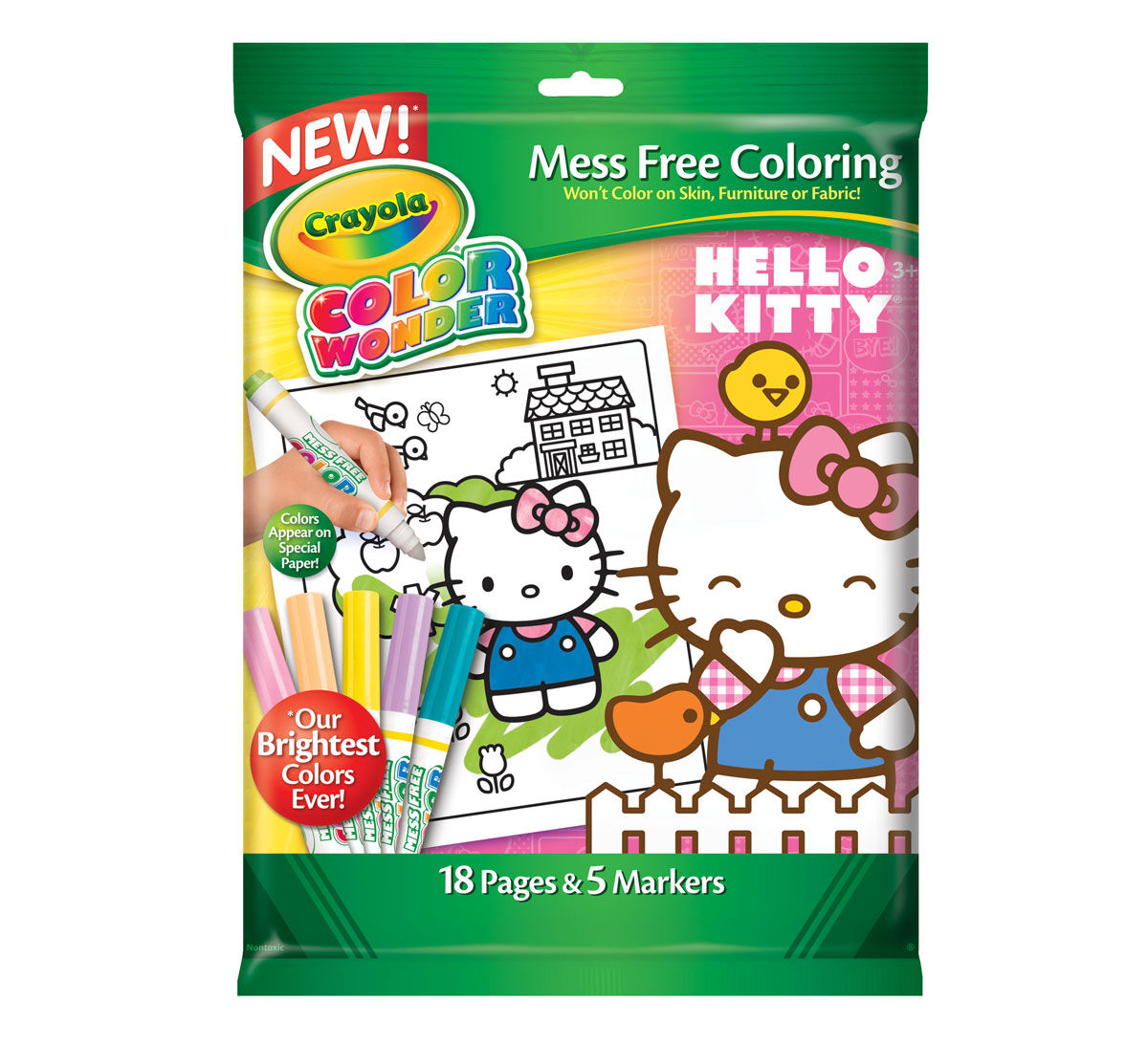 Crayola Coloring Pages Hello Kitty : Color wonder coloring pad and markers hello kitty crayola