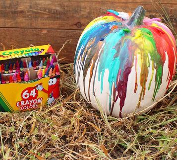 Crayons Melt Pumpkin Craft