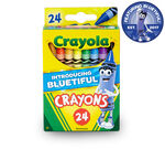 Crayola 24 count Crayons with new bluetiful