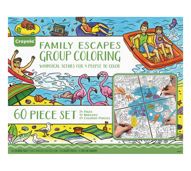 family escapes gift set whimsical destinations - Crayola Coloring Book