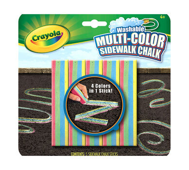 Washable Multicolor Sidewalk Chalk