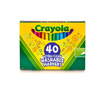 Crayola Ultra Clean Washable Markers 40 count front