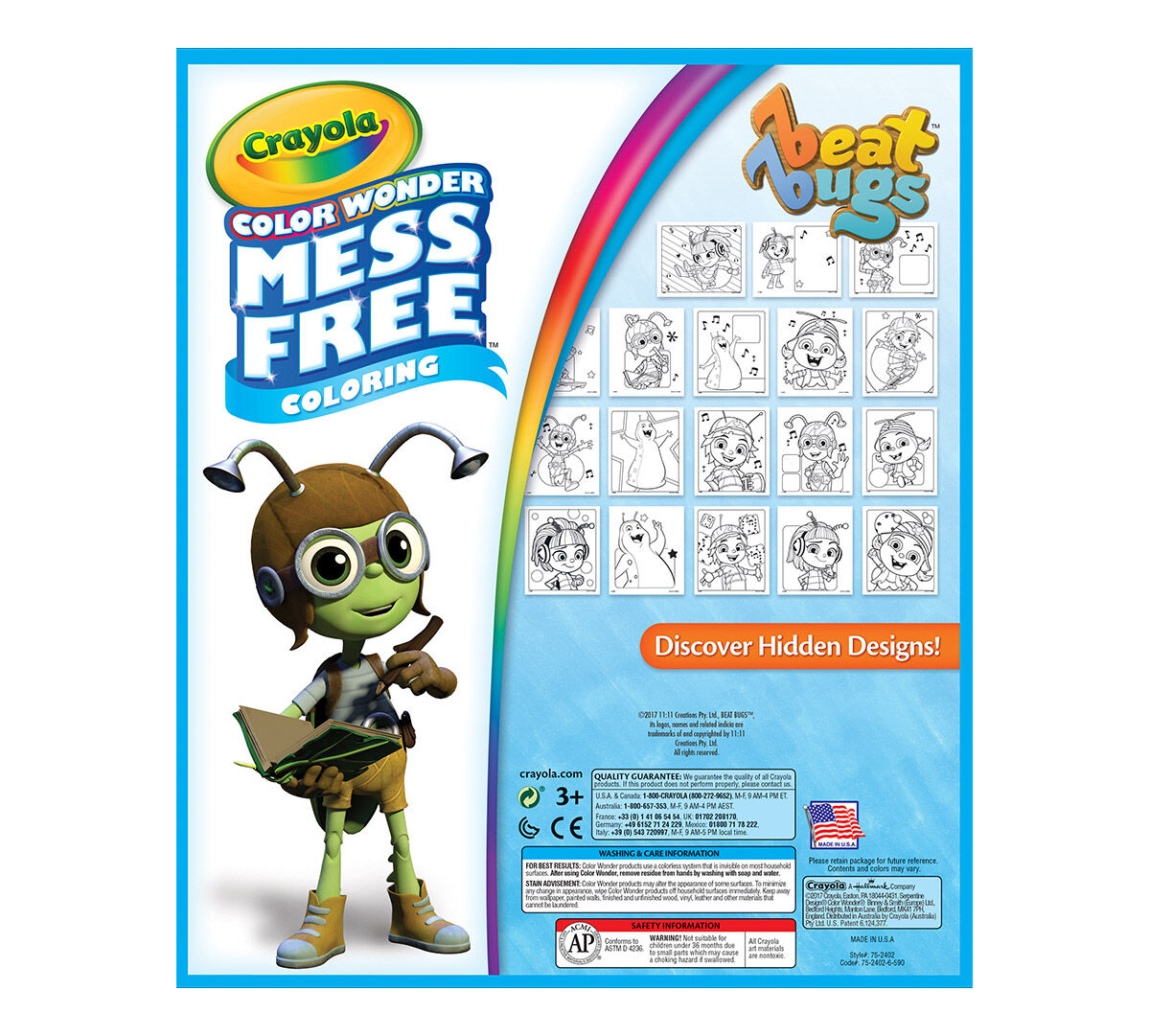 Crayola, Beat Bugs, Color Wonder Mess-Free Coloring Pad and Markers ...