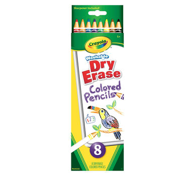 Washable Dry-Erase Colored Pencils