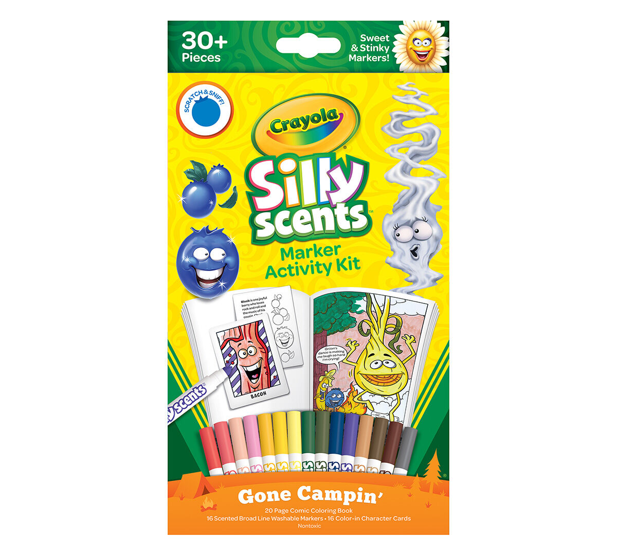 crayola silly scents markers 16 count scented art tools