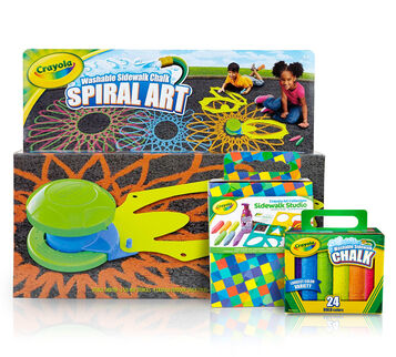 Sidewalk Chalk Art Set with Spiral Kit