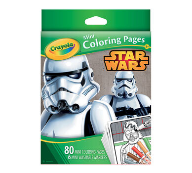 crayola mini coloring pages star wars